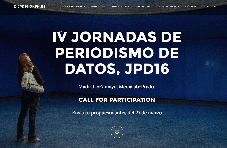 JPD16 Jornadas de Periodismo de Datos