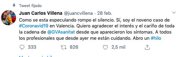 Periodistas y coronavirus.